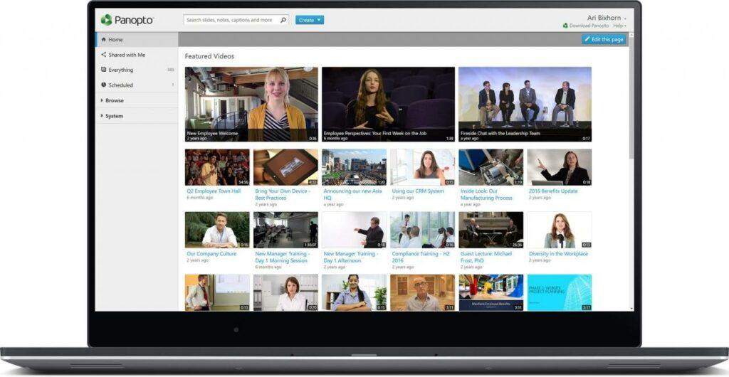 panopto video software